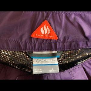 Purple Columbia Omni heat ski pants
